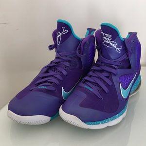 Nike Lebron IX 9 Charlotte Hornets Purple Teal 7.5